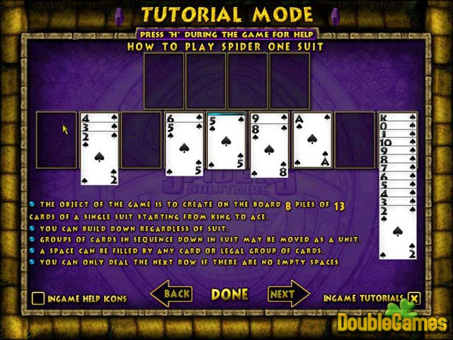 Free Download Ancient Spiders Solitaire Screenshot 3