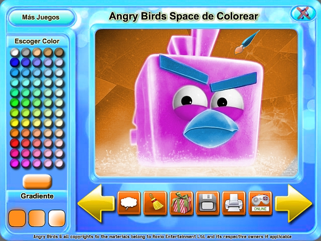 Free Download Angry Birds Space de Colorear Screenshot 4