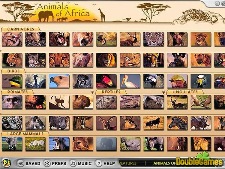 Screenshot descargo de Animals of Africa 1
