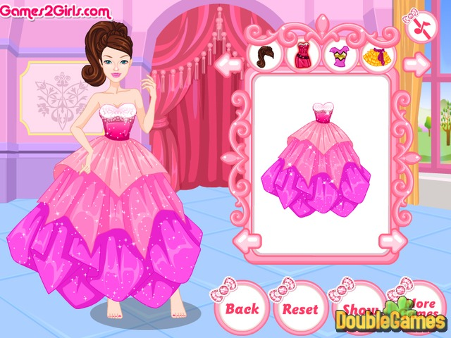 Free Download Barbie Super Sparkle DressUp Screenshot 2