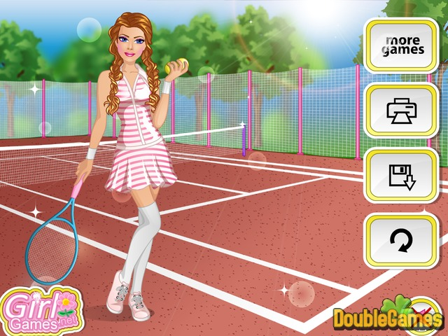 Free Download Barbie Tennis Style Screenshot 3