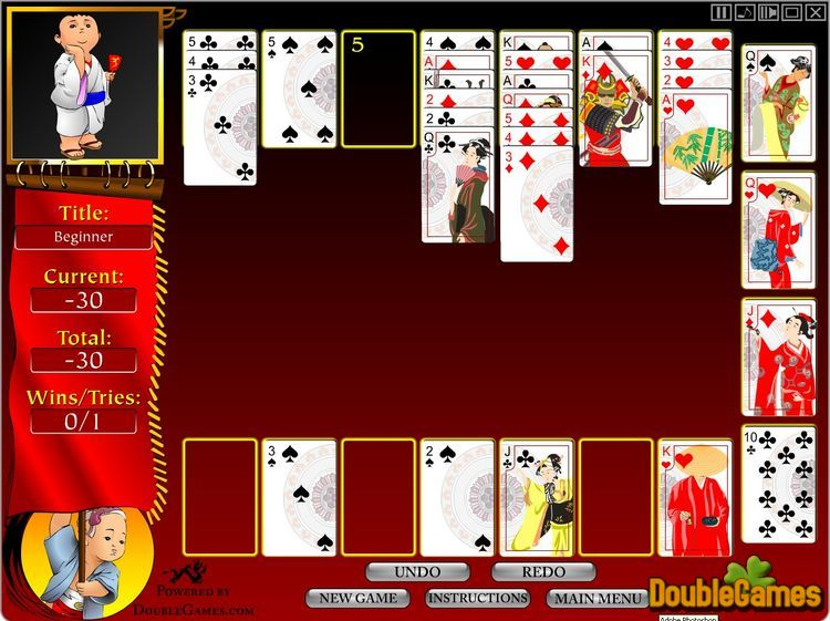 Free Download Bushido Solitaire Screenshot 2
