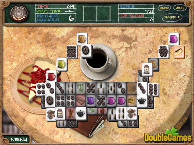 Free Download Cafe Mahjongg Screenshot 1