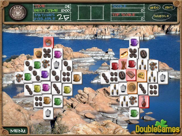 Free Download Cafe Mahjongg Screenshot 2