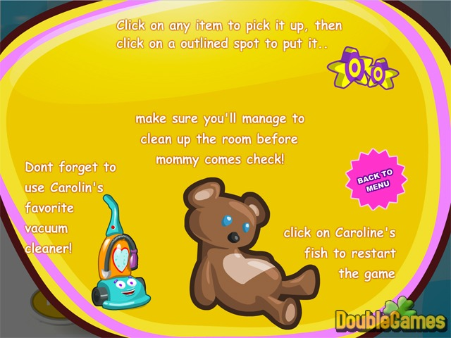 Free Download Caroline's Room Ordering is Fun Screenshot 1