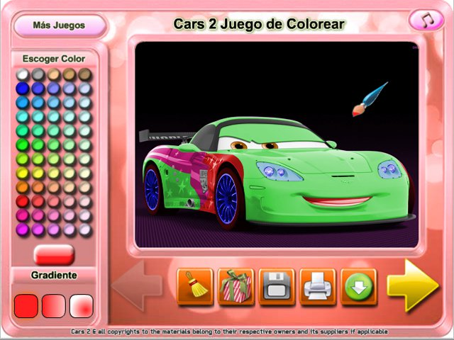 Free Download Cars 2 Juego de Colorear Screenshot 1