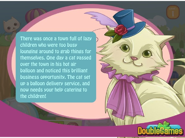 Free Download Cat Balloon Delivery Screenshot 2