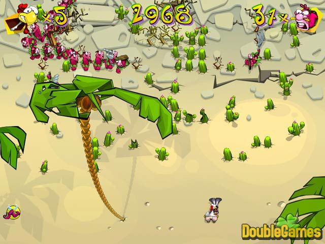Free Download Chicken Rush Deluxe Screenshot 2