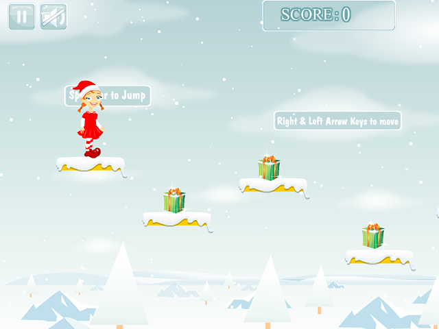 Free Download Christmas Girl Jumps Screenshot 1