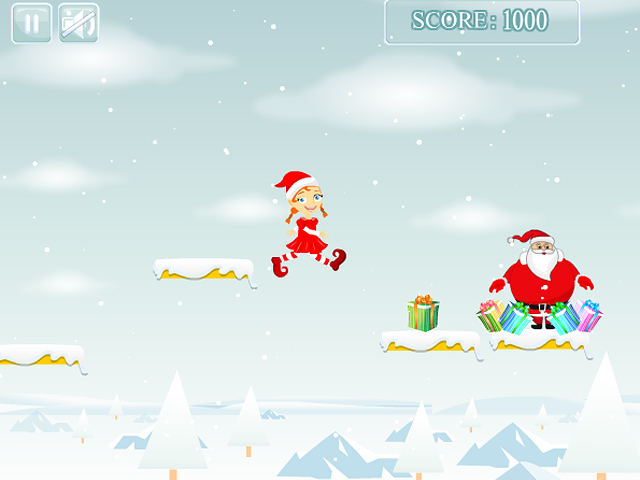 Free Download Christmas Girl Jumps Screenshot 3