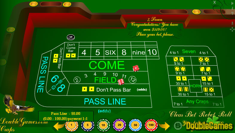 Craps big 6 and big 8 bets