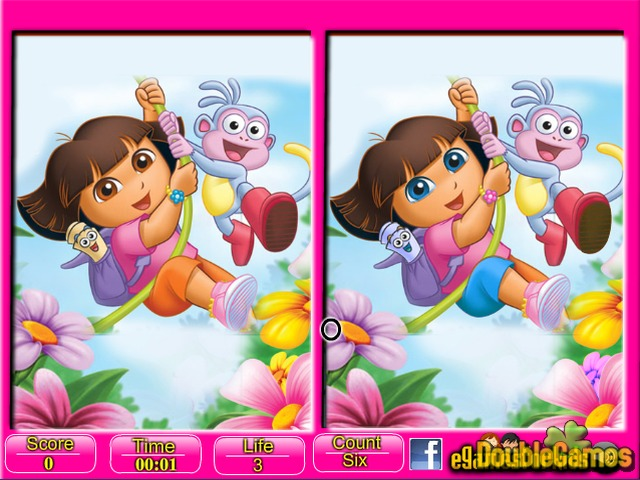 Free Download Dora Six Differences Screenshot 2