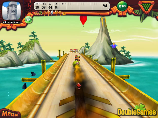 Free Download Elf Bowling: Hawaiian Vacation Screenshot 1