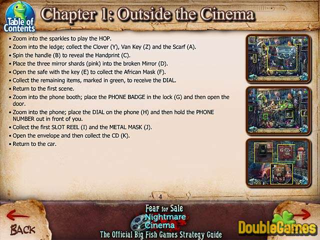 Free Download Fear For Sale: Nightmare Cinema Strategy Guide Screenshot 1