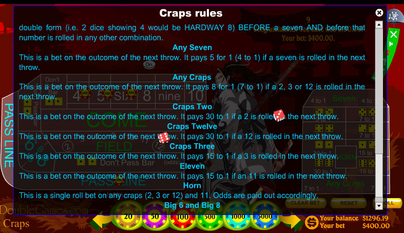 Screenshot descargo de Japanese Craps 1