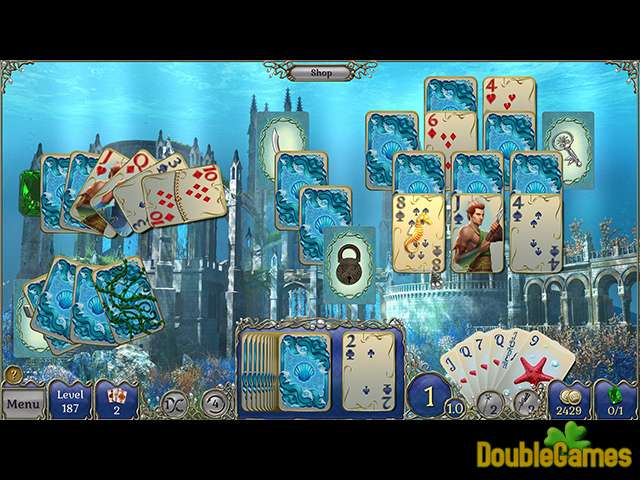 Free Download Jewel Match Solitaire Atlantis Screenshot 1