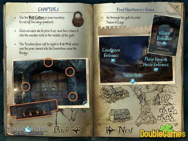 Free Download Midnight Mysteries 2: The Salem Witch Trials Strategy Guide Screenshot 2