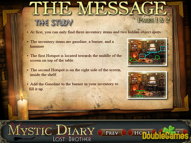 Screenshot descargo de Mystic Diary: Lost Brother Strategy Guide 1