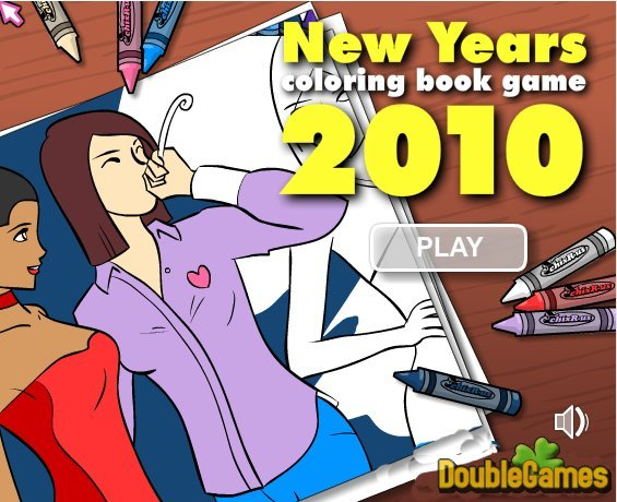 Free Download New Year Coloring Book Game 2010 Screenshot 1