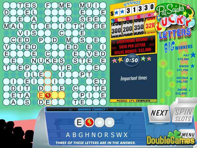 Free Download Pat Sajak's Lucky Letters Screenshot 2