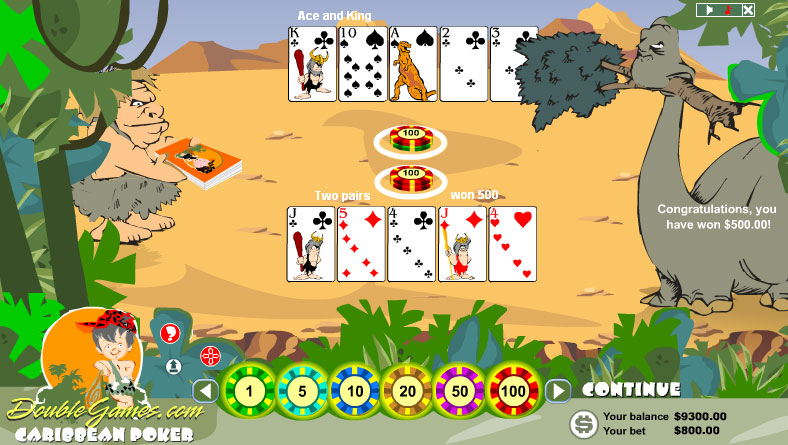 Free Download Prehistoric Caribbean Poker Screenshot 1