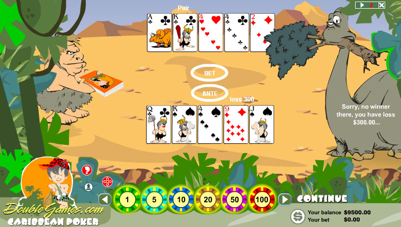 Free Download Prehistoric Caribbean Poker Screenshot 2