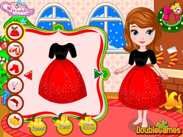 Screenshot descargo de Princess Sofia Christmas Dressup 2