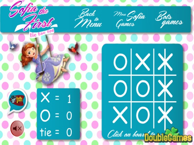 Free Download Sofia The First. Tic Tac Toe Screenshot 2