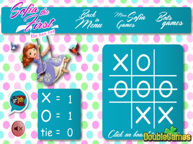 Free Download Sofia The First. Tic Tac Toe Screenshot 3
