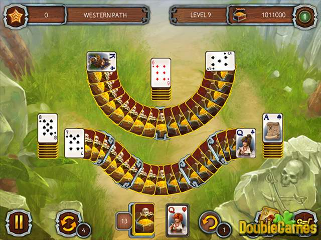 Free Download Solitaire Legend Of The Pirates 3 Screenshot 1