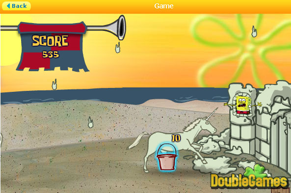 Screenshot descargo de SpongeBob SquarePants: Sand Castle Hassle 2