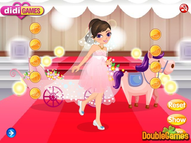 Screenshot descargo de The Carriage Wedding DressUp 2