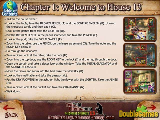 Screenshot descargo de Twilight Phenomena: The Lodgers of House 13 Strategy Guide 1
