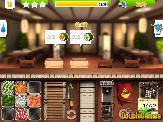 Free Download Youda Sushi Chef 2 Screenshot 1